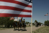 Funeral services for SSG Justin Vasquez, who was killed in Iraq on June 5, 2005. (TODD...