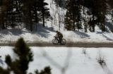 (BOULDER, Colo., May 5, 2005) Former Phonak cycling team rider Tyler Hamilton rides along a the...