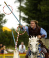 Sir William, Lord of Whitehall - Bryan Beard, uses a lance to spear a ring Sunday morning June 26,...