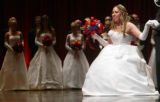 "(Denver, Colo., June 11, 2005) Erin Kelley curtseys before the reception committee.  ""Le Bal..."