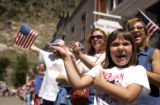 (Foreground to Back) Riley Barber (CQ), 6, of Broomfield, mother Lynn Martinez (CQ), of Broomfield...