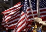 The United States flag is carried into he final day of the Greeley Stampede boasting the world's...