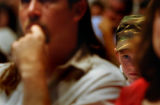 (COLORADO SPRINGS, CO. JUNE 4, 2004) (center) Dylan Hall, 5, of Oaklahoma watches a special...
