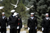21 Doves are released in honor of Navy SEAL Danny Phillip Dietz, Jr.,  25, cq from program, who...