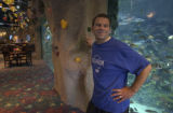 Tilman Fertitta, Chairman, President and CEO of Landry's Restaurants, Inc., poses in the Aquarium...