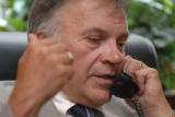 "Washington, U.S. Rep. Thomas Tancredo, R-Colo. talks about his ""nuke Mecca"" comment to a..."