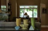 Home Front cover story. Painter Todd Misk and his partner John Reid, a designer and a florist,...