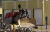 Granby, Colo., photo taken June 5, 2004- Granby Police and Fire fighters place a trap over the...