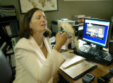 Denver, CO July 19, 2005 Michele Ashby, shown in her home office, just quit as CEO of Denver Gold...