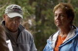 Dale (cq left) and Chris Christensen (cq) parents of missing Rocky Mountain National Park Jeff...