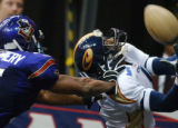 STAFF PHOTO BY JENNIFER ZDON Colorado Crush's Damian Harrell makes a touchdown against the New...