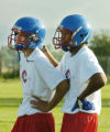 Denver, CO Aug. 15, 2005 Dillon Sanders (right) and Waylon Lolotai, who helped lead Centaurus to a...