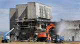 The last building at Rocky Flats, building 371, is being dismantled at Rocky Flats Monday August...