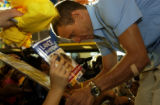 (DENVER, Colo., Aug 17, 2005) Lance Armstrong made an appearance Wednesday Aug. 17, 2005, at the...