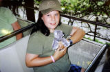 Copy photo of Hayley VanderJagt at the San Diego Zoo courtesy of the family. She is the daughter...
