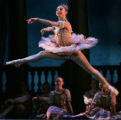 JPM147  Sharon Wehner, principal dancer with the Colorado Ballet, rehearses in the role of Aurora...