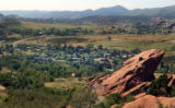 Morrison, Colo.,  July 1, 2004- Homes surrounding Morrison looking south from Red Rocks. Morrison,...