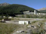 outside of henderson mine shot on ???. Henderson mine is one of ? proposals for an underground...