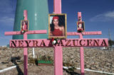 (NYT41) CHIHUAHUA, Mexico -- Sept. 25, 2005 -- JUAREZ-MURDERS -- A tribute to dead or missing...