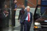 DENVER, COLO. - JULY 20, 2004  Former president Bill Clinton arrives at The Tattered Cover...