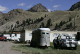 Looking  at a trailer park in  Creede, CO Tuesday September 13, 2005. Many of the people living...