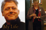 "(7/20/2004, Denver, CO)   Bill Clinton signs his book, ""My Life,"" at Tattered Cover in..."