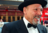 NY111 - ** FILE ** Pulitzer prize-winning playwright August Wilson speaks to a member of the crowd...
