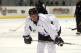 (FOREGROUND CENTER) Colorado Avalanche Antti Laaksonen number 24, during Avalanche practice at the...