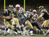 KRT SPORTS STORY SLUGGED: PATRIOTS-RAMS KRT PHOTOGRAPH BY CHRIS LEE/ST.  LOUIS POST-DISPATCH...