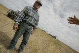 Steve Baker (cq) and his family have farmed and ranched for generations in  Last Chance, CO. He is...