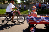 Centennial, Colo., photo taken July 4, 2004- Katherine Strausberg (CQ) ,5, of Centennial gets...