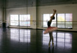Maya Makhateli (cq), rehearses for her role as Princess Aurora in the Colorado Ballet's production...