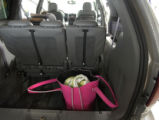 (Castlerock, Colo., July 8,  2004)   The back cargo area of the 2005 Chrysler Town and Country...