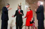 (NYT12) WASHINGTON -- Sept. 29, 2005  ROBERTS-CONFIRM-3 -- John G. Roberts Jr., second from left,...