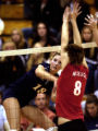 (DOUGLAS CO, Colo., Oct. 13, 2005) Sarah Ammerman, #18, (cq-roster) of Chaparral High School hits...
