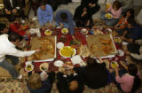 (Irvine, Calif., Jan. 29,2005) The Shiro family and their friends (including Ahmad Dizayee) gather...
