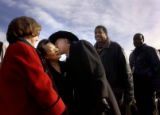 [DENVER, CO - Shot on: 1/17/05] Newly elected senator (dem) for Colorado greets former first lady...