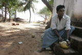 (1/18/05, Kaalapet, India)   Fisherman Rathina Samy, 60, lost his mother in the tsunami and spent...