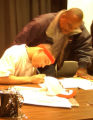 [Denver, CO - Shot on: 2/2/05] Montbello High school senior Steve Johnson II signs a scholarship...