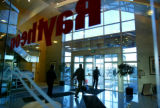 (Aurora, Colo., February 2, 2005) The lobby in one of the buildings on the Raytheon campus at the...