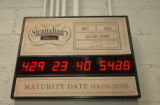 (DENVER, Colo., Febuary 3, 2005) The countdown clock at   Stranahan's Colorado Whiskey. There are...