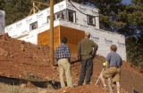 (Boulder, COLO. JANUARY 20, 2005) HGTV DREAM HOUSE PROJECT.   Architects Brad Tomecek, left, and...