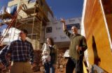 (Boulder, COLO. JANUARY 20, 2005) HGTV DREAM HOUSE PROJECT.  Christopher Herr, rt, waves to a...
