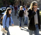 (BOULDER, Colo, February 3, 2005) CU professor Ward Churchill walks on campus after teaching his...