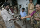 (1/24/05, Pondicherry, India)  Today Dave and I visited three villages for Dalits around...