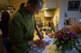 (BOULDER, COLO., December 14, 2004)   HGTV DREAM HOUSE PROJECT.  Christopher Herr changes diapers...