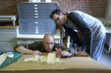 (Denver, Colo., August 20, 2004)  HGTV DREAM HOUSE.  Architects Christopher Herr, left, and Brad...
