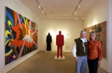 [VAIL , CO - Shot on: 1/19/05]  Kent and Vicki Logan are photographed in their art gallery next to...