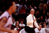 [Denver , CO - Shot on: 1/21/05-University of Denver head coach,Terry Carroll, during the...