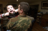 (PEYTON,  Colo., January 28, 2005) In a moment of fun foolery, Ian,6, flashes his new dental...